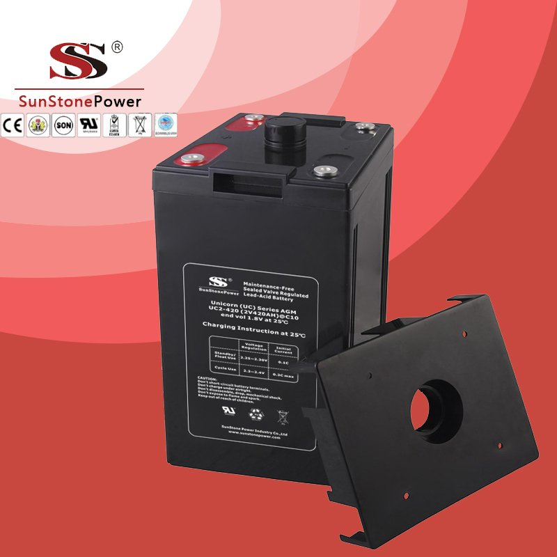UC series 2V 420AH Solar battery Deep cycle battery Solar Control system Battery