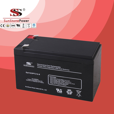 SPT Series 12V9AH Sealed Maintenance Free VRLA/SLA AGM Battery for UPS