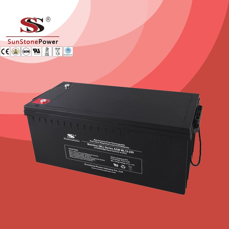 Solar Battery Deep Cycle Battery 12v 220ah AGM Lead Acid Battery