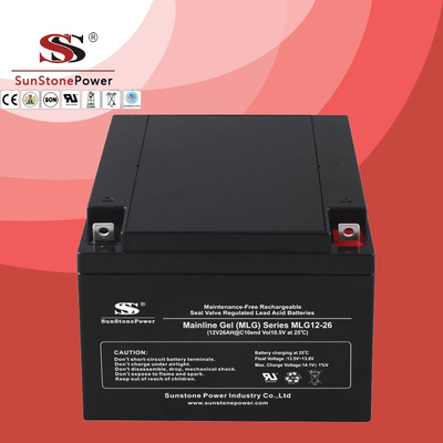 Deep Cycle 12V26AH Gel Lead Acid Solar Battery