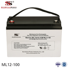 Sunstone Power 12V 100AH High Quality UPS AGM Lead Acid Battery